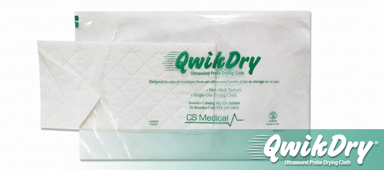 QwikDry Ultrasound Probe Drying Cloth