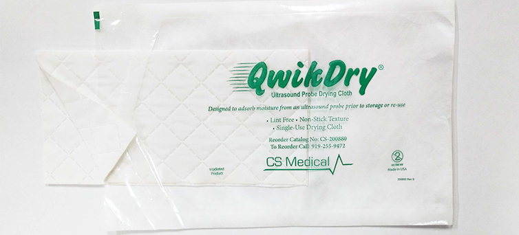 Release of the QwikDry TEE Ultrasound Probe Drying Cloth