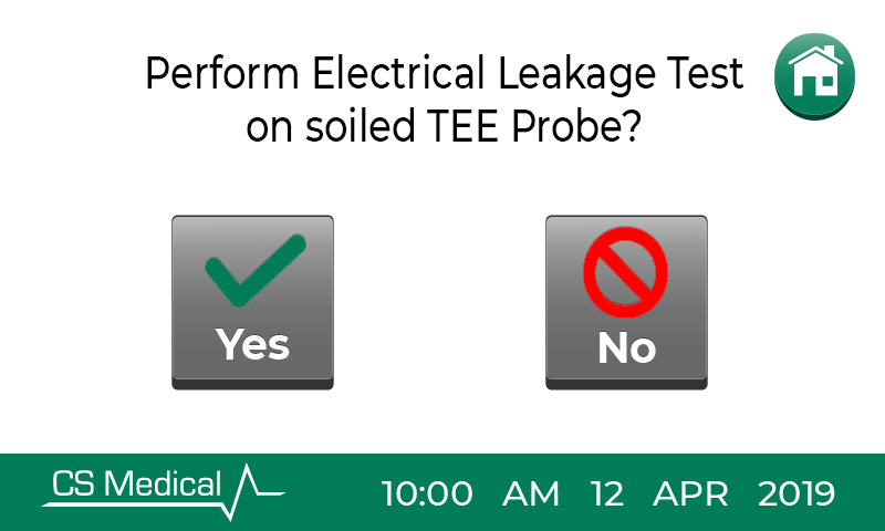 TEEClean electrical leakage test screen