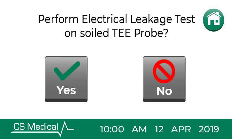 TEEClean electrical leakage test screen
