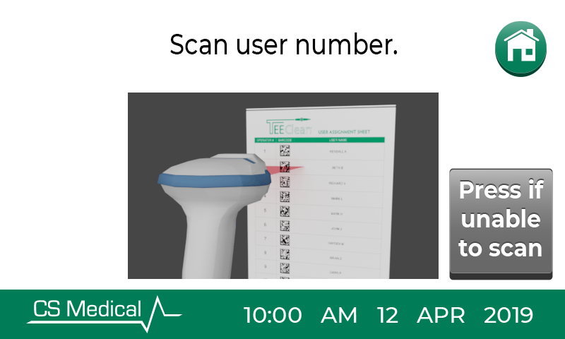 TEEClean scan user